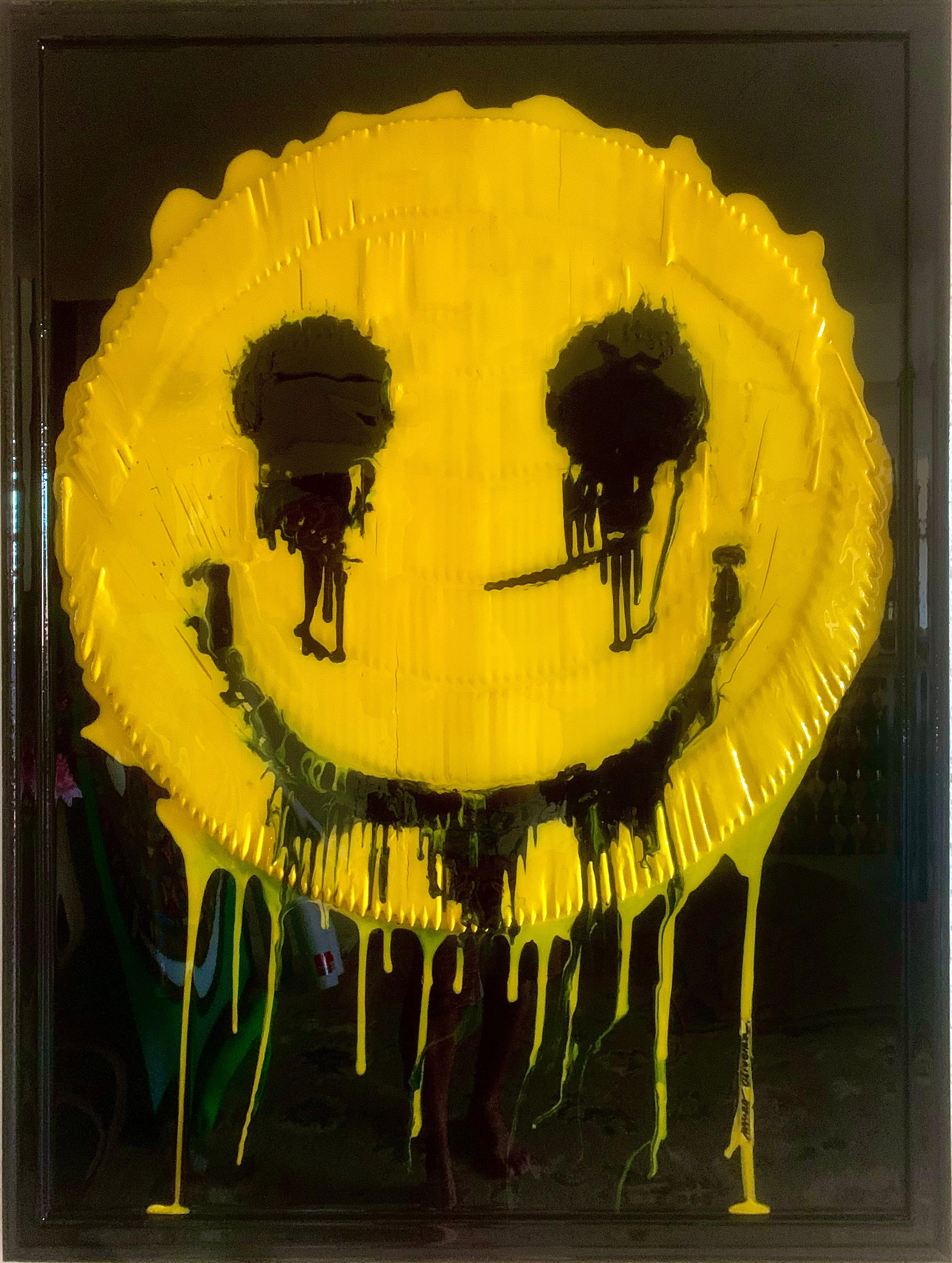 MELTING HAPPINESS (Original Mixed Media Framed Artwork)