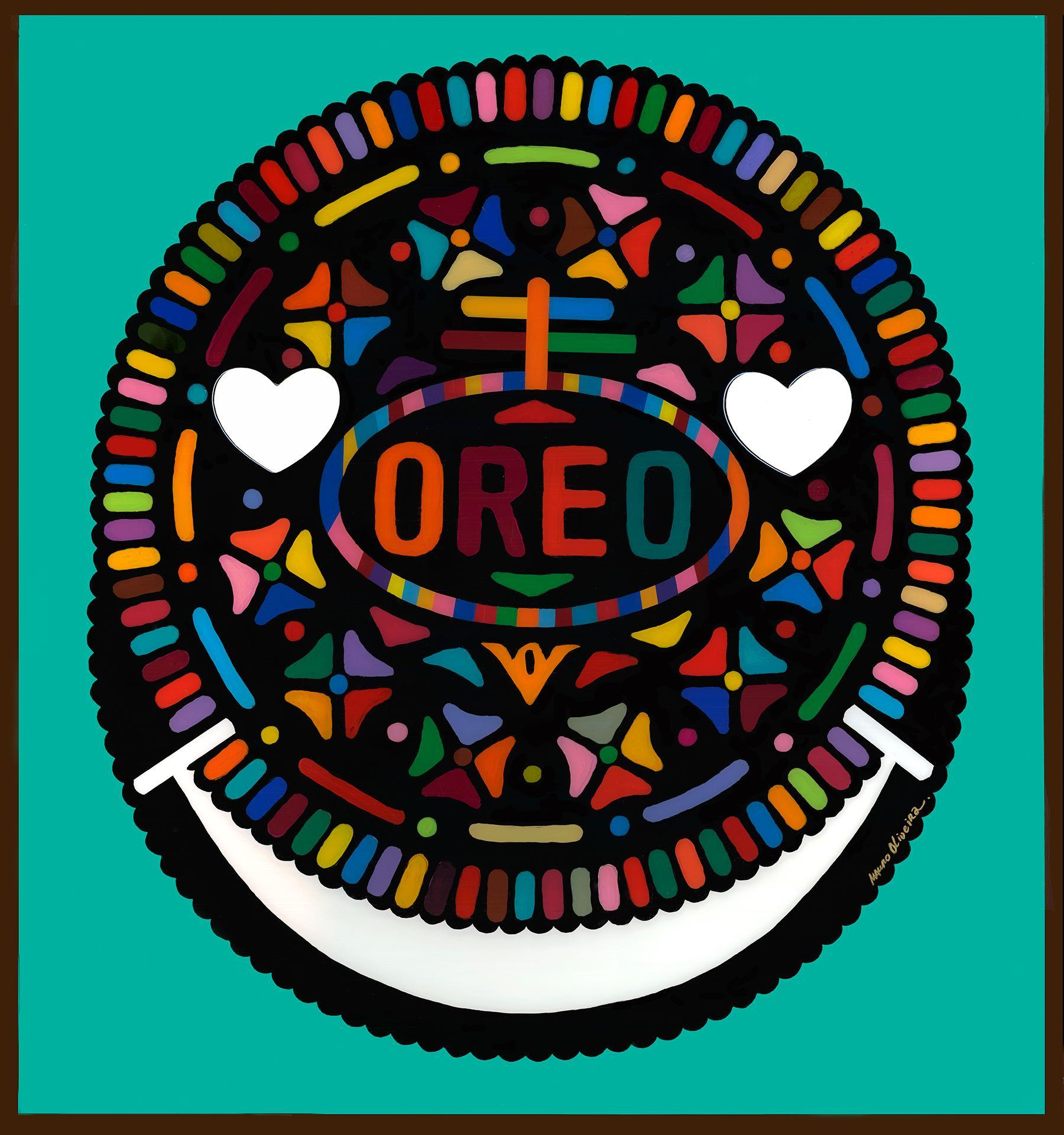 OREO HAPPY HOUR II (Original Framed Mixed Media Artwork).