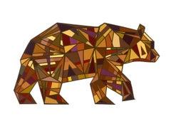 The Lucky Bear (Original Collage Artwork)