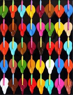 Bombay Ice Cream Tasting II - Colorful Mixed Media Artwork
