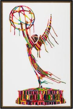 Melted Emmy III (Original Framed Mixed Media Artwork)