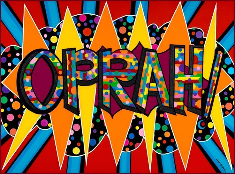 Mauro Oliveira Abstract Print - Oprah! A True Pop Icon III (Limited Edition Print)