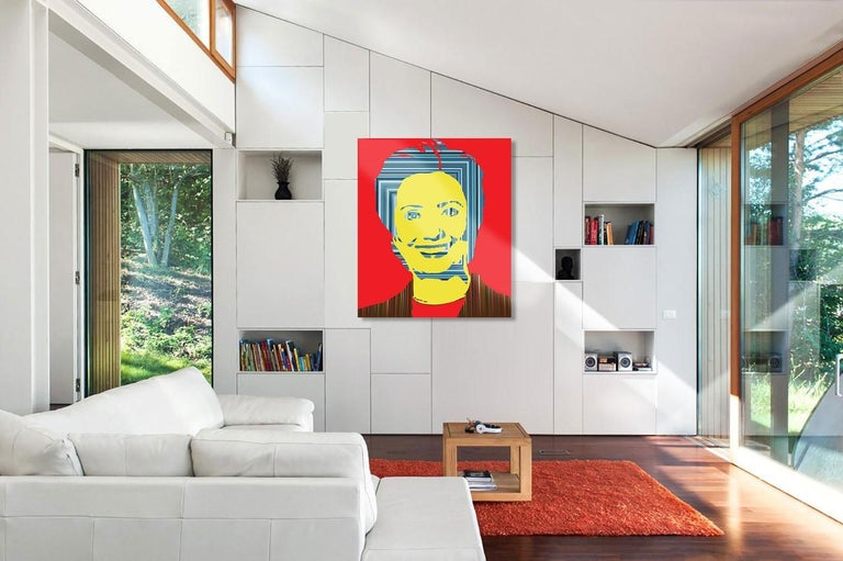 Pop Hill II (Limited Edition Print) - Red Portrait Print by Mauro Oliveira