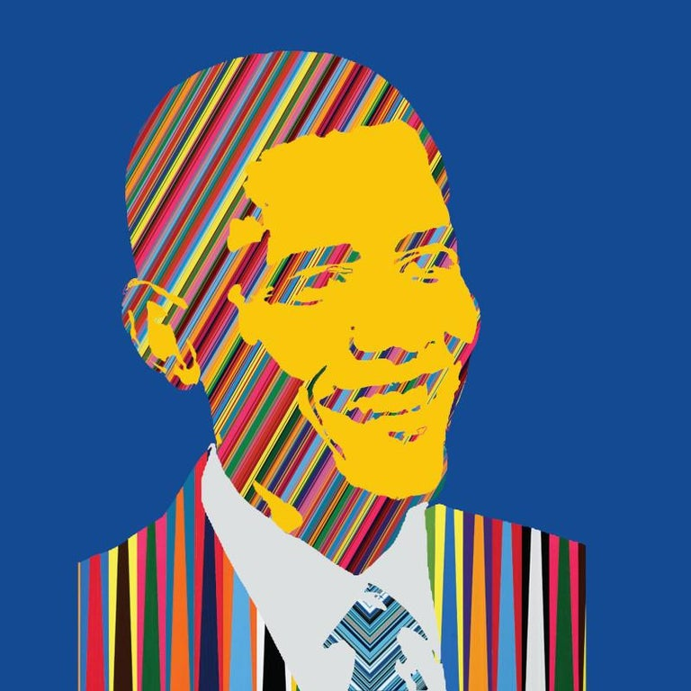 Mauro Oliveira Portrait Print - The First Rainbow President II (Limited Edition Print)