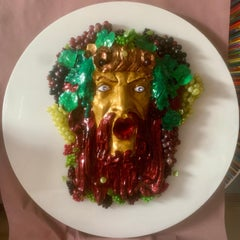 BACCHUS  - GOD OF WINE AND FUNNN (One of a kind wall sculpture)