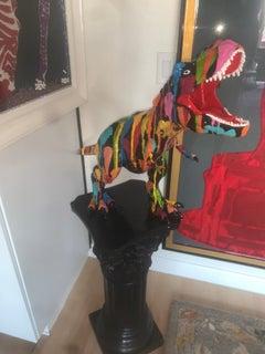 DINOLIVER I (Original and Custom made Mixed Media Dinosaur Sculpture)