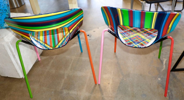 Mauro Oliveira Stylized Pair of Chairs For Sale 2
