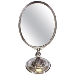 Mauser Manufacturing Company Sterling Silver Tilting Tabletop Mirror