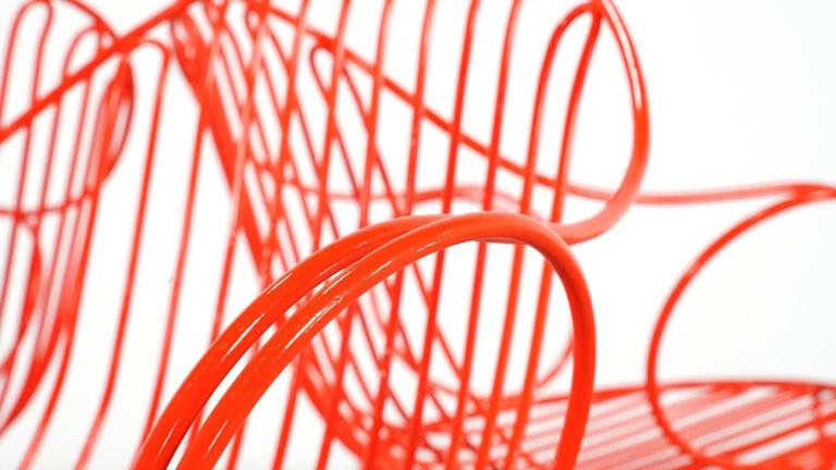 Mauser Waldeck, 2 Modernist Garden Chairs 1952, Germany in Bright Orange For Sale 2