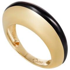 MAVIADA's Modern 18k Gold Minimalism Black Enamel Engagement Cocktail Ring