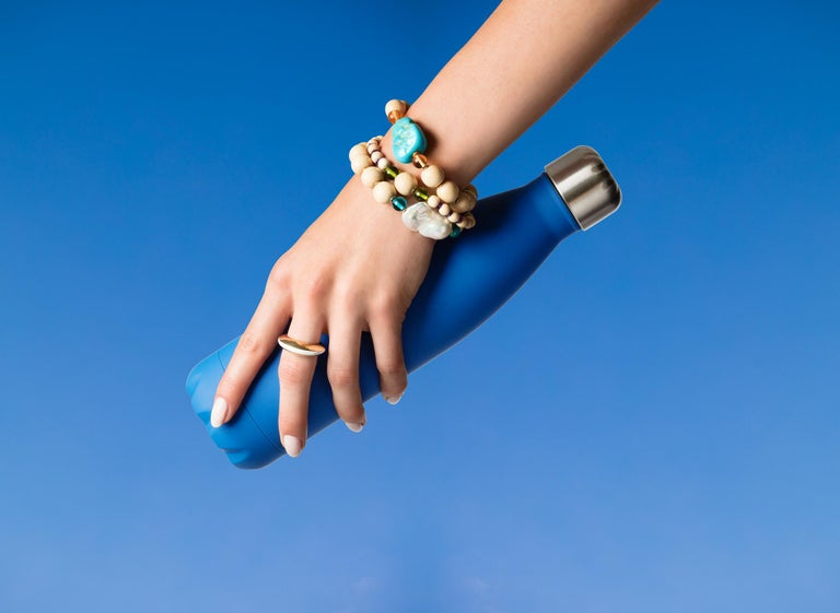 We are so pleased to introduce our Enamel ring collection. These are super sleek sophisticated rings in 18k yellow solid gold. They come in three brilliant colours: Black, Turquoise and White enamel. They look great worn alone or stacked for a more
