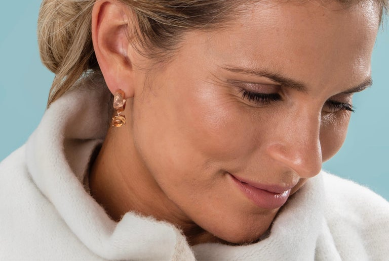 Like the little black dress, every girl needs a good pair of gold hoop earrings. With a 6mm hoop, the earrings measure 22mm in length and are 5mm at their widest. The hammered gold is hand finished and each pair is unique. They either come in hip