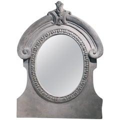"Mavis Mirror from Made Goods Indoor Outdoor Stone French ""Oeil De Bouef"""