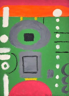 untitled, 1971, oil on cardboard, abstract art, composition