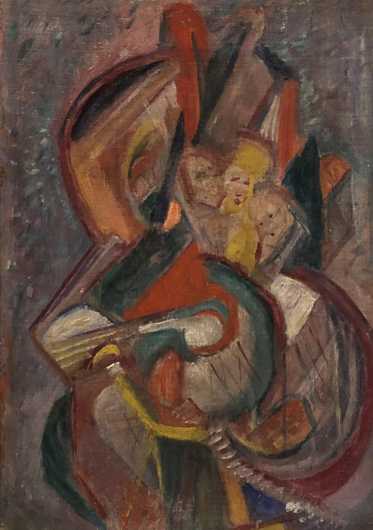 """Composition,"" Max Arthur Cohn, Abstract Figurative WPA Music Dance - Painting by Max Arthur Cohn"