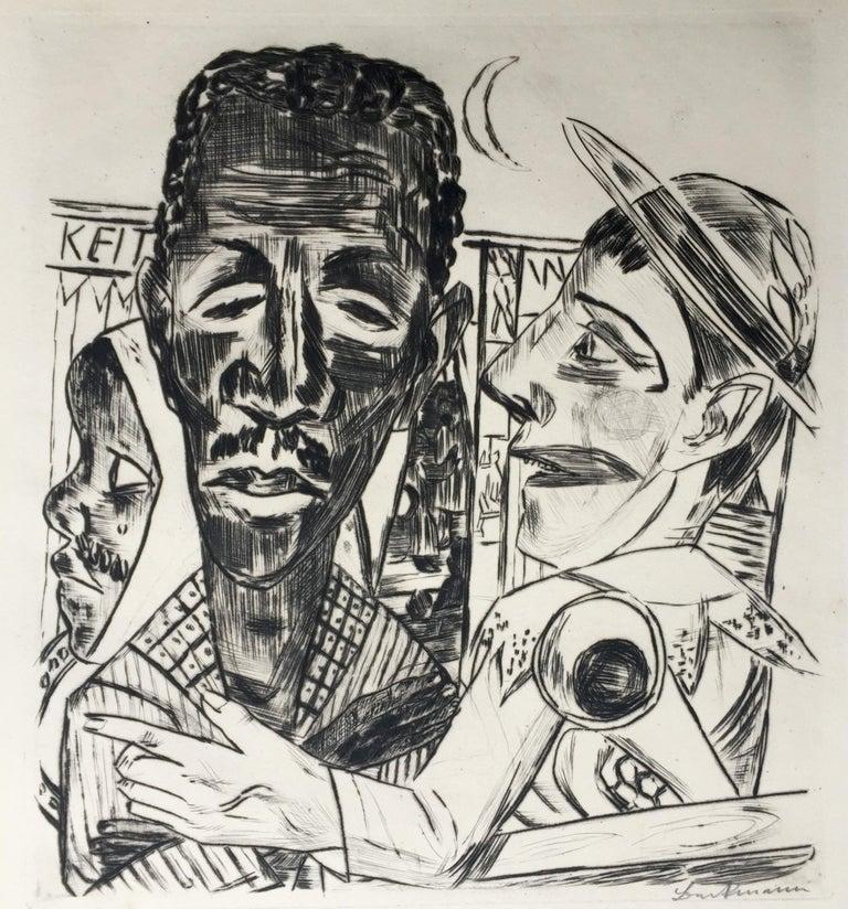 Max Beckmann Figurative Print - Der Neger (The Negro)
