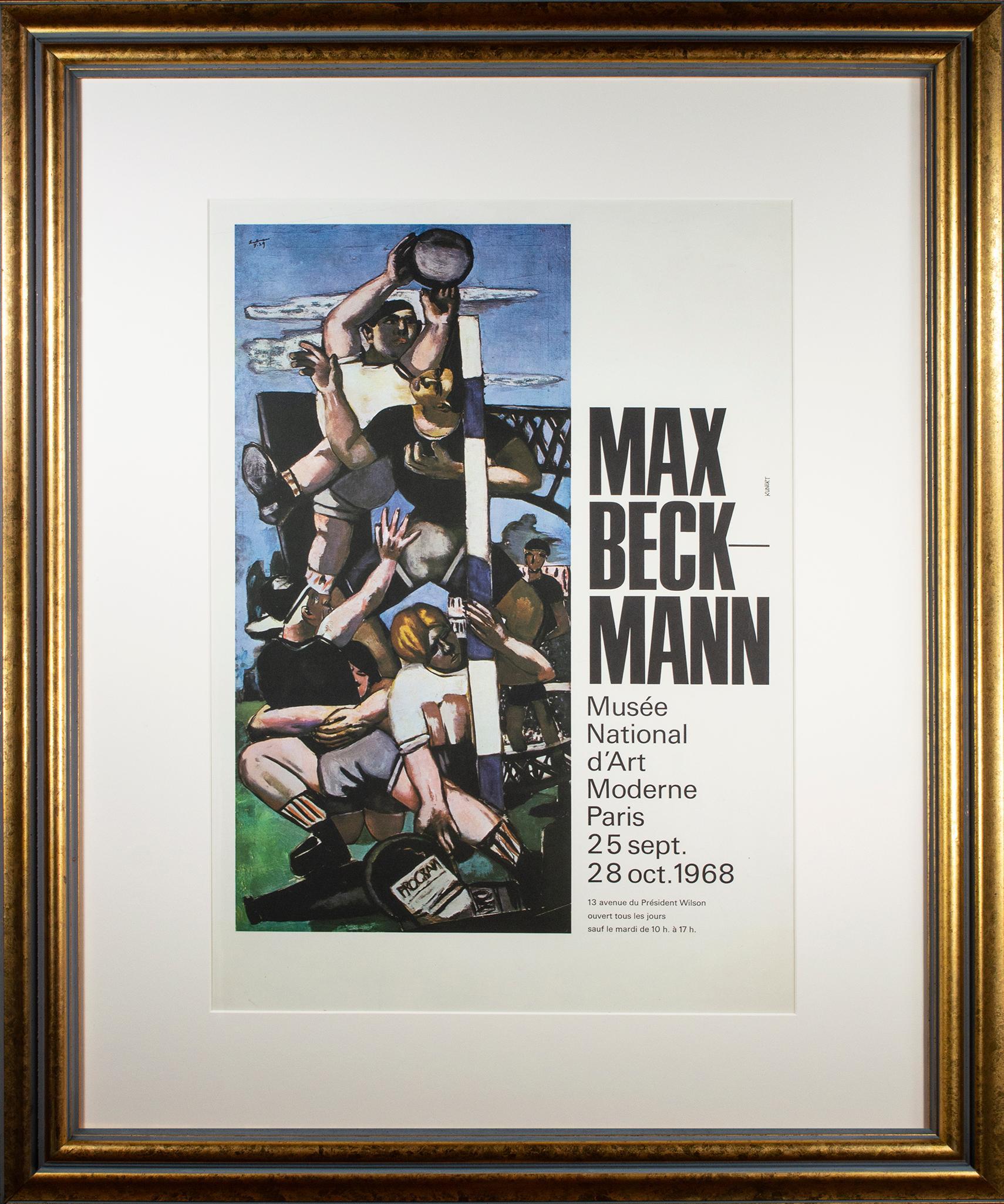 'Rugby players' Max Beckmann exhibition poster Musée National d'Art Moderne
