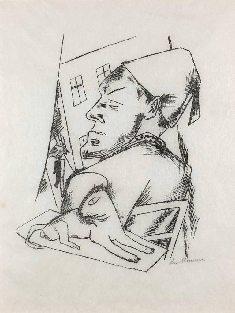Max Beckmann Figurative Print - Verbitterung