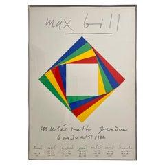 Max Bill Geneve Musee Serigraph, 1972