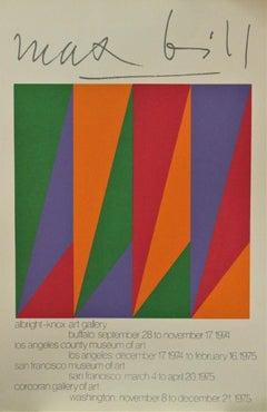 Albright-Knox Art Gallery, Buffalo: September 28 to November 17, 1974 Poster