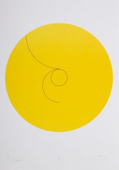 Constellations I, Minimalist Lithograph by Max Bill 1974