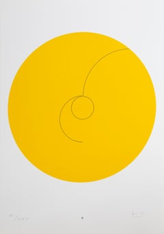 Constellations II, Minimalist Lithograph by Max Bill 1974
