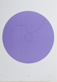 Constellations IX, Minimalist Lithograph by Max Bill 1974