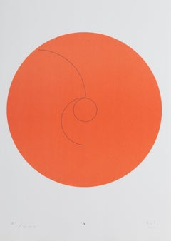 Constellations V, Minimalist Lithograph by Max Bill 1974