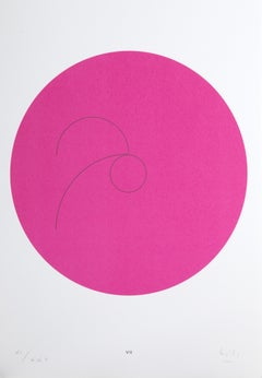 Constellations VII, Minimalist Lithograph by Max Bill 1974