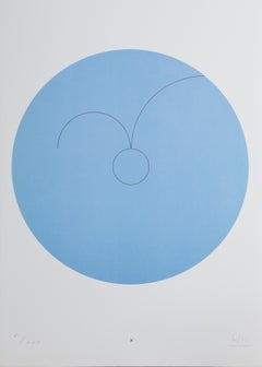 Constellations X, Minimalist Lithograph by Max Bill 1974