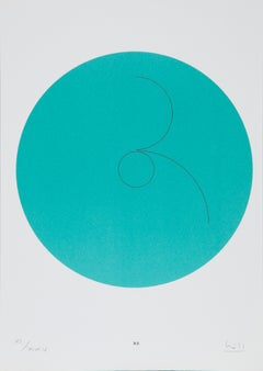 Constellations XII, Minimalist Lithograph by Max Bill 1974