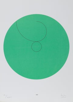 Constellations XIII, Minimalist Lithograph by Max Bill 1974