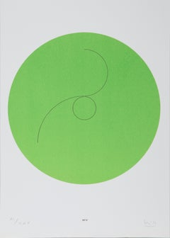Constellations XIV, Minimalist Lithograph by Max Bill 1974