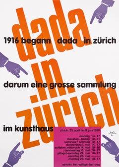 """""""Dada in Zurich"""" Original Vintage Art Exhibition Poster"""