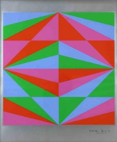 Geometric Composition - Original Silkscreen by Max Bill - 1970s