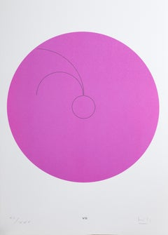 Constellations VIII, Minimalist Lithograph by Max Bill 1974