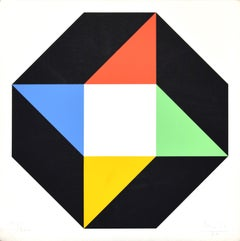 Octagon - Original Silkscreen by Max Bill - 1970