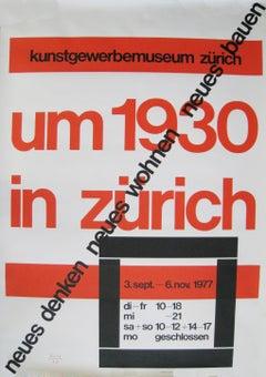 Um 1930 in Zurich,