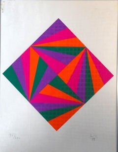 Untitled - Color Diamond  - Max Bill - Serigraph - Contemporary