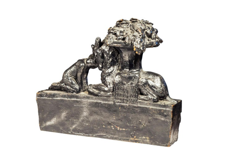 Max Blondat (1872-1926), Bronze sculpture, From the original earthenware used for a Rothschild fountain project for Chateau Ferrières (Marcilhac archives), Posthumous cast, France, circa 2000.  Measures: Width 39 cm, depth 16 cm, height 32 cm.
