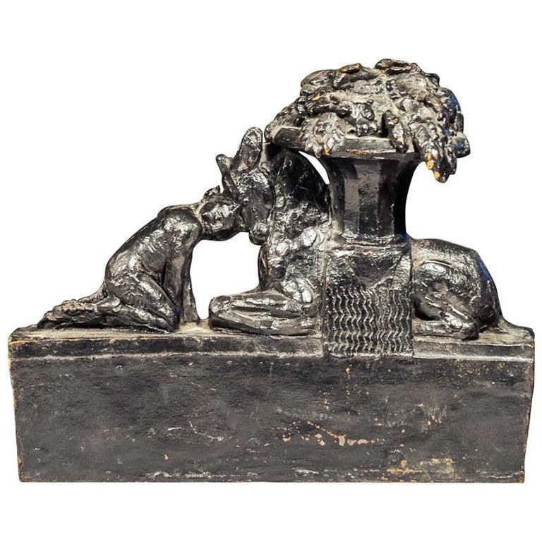 Max Blondat, Bronze Sculpture, France, circa 2000