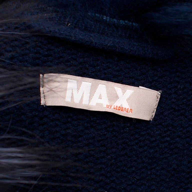 Max by Lederer Cashmere, Wool & Racoon Fur Gilet - Size S For Sale 3