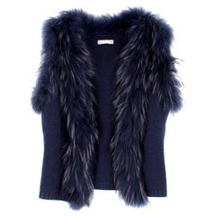 Max by Lederer Cashmere, Wool & Racoon Fur Gilet - Size S