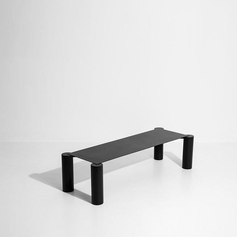 Thin collection Manufactured by Max Enrich  Barcelona, 2018 Powdercoated iron. Measures: 150 cm x 40 cm x 42 H cm /  59.05 in x 15.74 in x 16.53 H in.