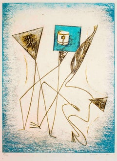 "Composition from ""Festin"" - Original Lithograph by Max Ernst - 1974"