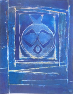 Composition with Blue Vase - Lithograph and stencil, 1958