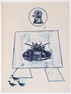 Dance of Soldiers - Original Lithograph by Max Ernst - 1972