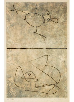 Doubles - Original Etching by Max Ernst - 1972