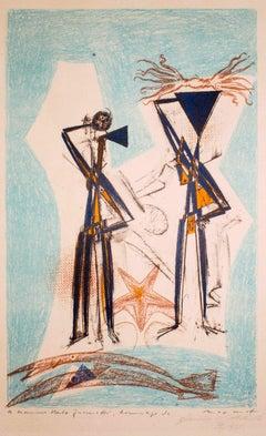 Etoile de Mer - Original Lithograph by Max Ernst - 1950