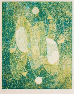 Green Space - Original Etching by Max Ernst - 1970